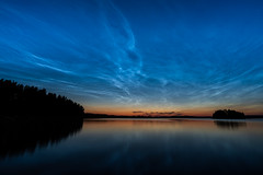 Have a Nice Weekend! (@Tuomo) Tags: finland summer august korpilahti päijänne lake noctilucentclouds night sky sony a7r3 a7riii sel1635gm landscape nature colors