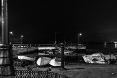 A Night in Cobh (giovannapz) Tags: cobh ireland night blackwhite sea boats barche mare bianconero notte irlanda