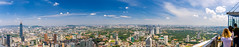 Kuala Lumpur Panorama (Wolfhowl) Tags: view skyscrappers asia city kualalumpur panorama birdeye kltower malaysia trees summer clouds buildings travel landscape scenic august architecture parks cityscape green sky modern