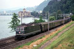 SBB Re4/4II with Chillion (Montreux), June 18, 1999 (swissuki) Tags: switzerland sbb montreux chillion railroads re44ii