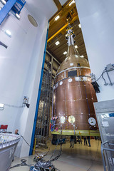 Orion STA full stack move inside RAL acoustic chamber (Lockheed Martin) Tags: orion lockheedmartin nasa space spacecraft spaceship