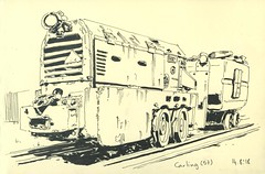 Locomotive d'extraction de Houille - Carling (lolo wagner) Tags: locomotive moselle carling mine charbon houille