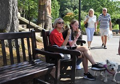 Ice Cream Bench (Bury Gardener) Tags: streetphotography streetcandids street snaps strangers people peoplewatching folks 2018 nikond7200 nikon keswick england cumbria uk britain