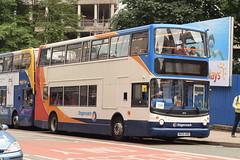 SMSL 18347 @ Aytoun Street, Manchester (ianjpoole) Tags: stagecoach merseyside south lancs dennis trident alexander alx400 mx55krd 18347 working parklife shuttle service from aytoun street manchester heaton park