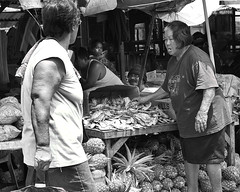 Customer, Maybe ? (Beegee49) Tags: street vendor fruit pineapples fish market bacolod city philippines allfreepicturesjuly2018challenge