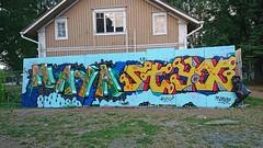 Hiedanranta (Thomas_Chrome) Tags: hiedanranta graffiti streetart street art spray can wall walls tampere suomi finland europe nordic legal