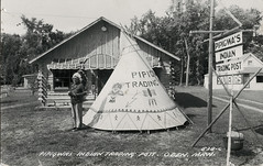 Pipigwf's Indian Trading Post, Oden, Michigan (SwellMap) Tags: postcard post card vintage old antique rppc real photo photograph