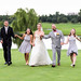 Happy new family on the golf course from yesterday's wedding - Grande Dunes Members Club