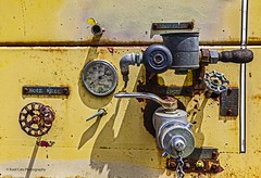 Gauges and Valves (Kool Cats Photography over 10 Million Views) Tags: gauges valves textures text canon canoneos6d photography yellow oklahoma old outdoor artistic abstract rusty rust