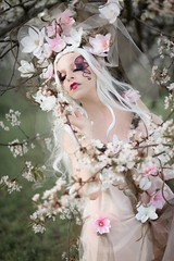 "TEATRONATURA ""Ethereal solstice flower"" (valeriafoglia) Tags: ethereal solstice spring springtime spirit capture pink white flowers flower delicate colors beautiful beauty photography photo pretty portrait art atmosphere amazing fantasy fairy nature"