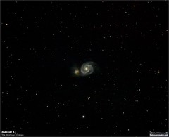 A Quick View of Messier 51 (M51) Whirlpool Galaxy (LeisurelyScientist.com) Tags: tomwildoner night sky deepsky space outerspace skywatcher telescope 120ed celestron cgemdx asi190mc zwo astronomy astronomer science canon canon6d deepspace guided weatherly pennsylvania observatory darksideobservatory stars star leisurelyscientist leisurelyscientistcom tdsobservatory backyardeos m51 whirlpoolgalaxy march 2018 canesvenatici