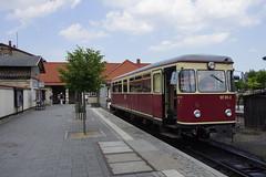 HSB 187 011-2 in het station van Wernigrode 07-06-2018 (marcelwijers) Tags: hsb 187 0112 het station van wernigrode 07062018 triebwagen vt kbotr 4 narrow gauge railway railways railroad harz harzer schmalspur bahn bahnen schmalspurbahn schmalspurbahnen deutschland duitsland germany sachsen anhalt smalspoor bahnhof diesel dieseltrein