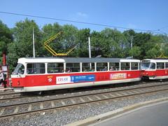 Prague Trams (aitch tee) Tags: prague czechrepublic publictransport vehicles trams