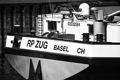 RP ZUG Basel CH (b_kohnert) Tags: schiffdetails schiffe shipdetails ship monochrome schwarzweis blackandwhite bw