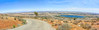Top of the Antelope Valley (joe Lach) Tags: topoftheav topoftheantelopevalley lakepalmdale californiaaqueduct panoramic panorama desertroad mojavedesert horizon mohavedesert antelopevalley joelach