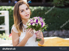 girl holding flowers in hands, young beautiful bride in white dress holding wedding bouquet, bouquet of bride from rose cream spray, rose bush, rose purple Memory Lane, violet eustoma, eucalyptus (ig_royal6969) Tags: girl rose spray cream bush purple memory lane lisianthus freesia eustoma eucalyptus lentiscus pistacia violet bouquet bridal bride plants wedding rustic spring decoration white floral gifts marriage roses arrangement flower mariage dress woman young happy portrait luxury background celebration holding love nature day brunette green summer hand face sunny romantic outdoors wife engagement sale shutterstock