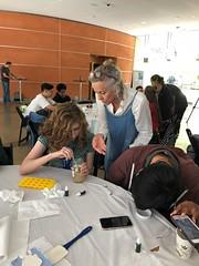WhatsApp Image 2018-08-08 at 00.26.28 (ART SCI CENTER - UCLA) Tags: sciartnanolab2018 day9 ana macarthur biomimicry plaster mold