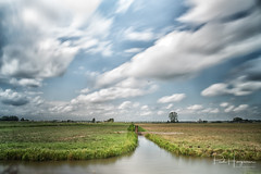 Clouds and wind (long exposure) (PaulHoo) Tags: mijdrecht landscape polder farmland green nature sky clouds cloudporn 2018 summer longexposure movement dramatic water wind windy