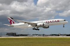 A7-ALL  A350-941  Qatar Airways (n707pm) Tags: a7all airbus a350 a350900 airport aircraft airplane airline qtr qatar qatarairways mia kmia miamiintlairport 26062018 cn36 florida usa
