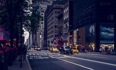 New York (KennardP) Tags: manhattan newyorkcity newyork nyc cityatnight citylights nightlights nightphotography handheldnightphotography handheld people road cars taxi yellowcabnewyork transportation canon5dmarkiv 5dmarkiv canon sigma50mmf14dghsmart sigmaartlens sigma buildings officebuildings shopping stores