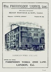 Farringdon Works, Shoe Lane, London. 1896 (sadiron16) Tags: farringdon pontifex tradecatalogue london sanitaryware pumps