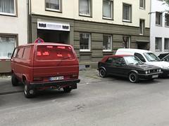 1986 Volkswagen Type 2 T3 & 1984 Volkswagen Golf (Alpus) Tags: vw volkswagen golf rare car 2017 june dusseldorf germany