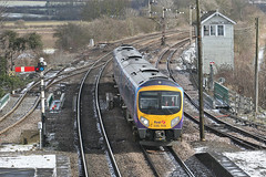 IMG_9216_1600 (Bingley Hall) Tags: uk england britain barnetby transport train transportation trainspotting rail railway railroad dmu semaphore signalbox transpennineexpress tpe passenger snow 185119