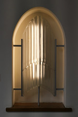 Arched, bowed window - The Glass Church (Monceau) Tags: arched bowed glass window renélalique glasschurch stmatthewschurch jersey millbrook lalique