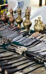 bazaar (yozhzh) Tags: bazaar knife dagger copper fair kettle asia uzbekistan