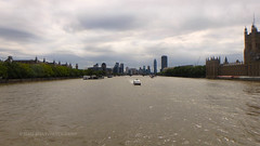 Cityscape (Mars Mann) Tags: london skyline river boat westminsterbridge trees buildings clouds bluesky water deepwater marsmannphotography far distance innercity summer august flickrmarsmann photography capture focus olympuscamera daytime