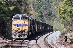 CSX Z351-25 (NS 726) at Whiteside, TN (KD Rail Photography) Tags: ns csx up norfolksouthern unionpacific buildingamerica coaltrains coal unittrains freighttrains ge generalelectric tennessee tennesseevalley mountainrailroading mountains ac4400cw fallseason fallcolors diesellocomotive diesel locomotive