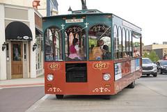 Trolly at Saline Summerfest (Mr. History) Tags: trolley saline street streets