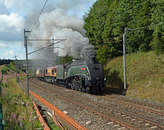 Number 9 (DaveStubbings) Tags: steam train steamtrain steamengine locomotive 60009 a4 unionofsouthafrica preservation grayrigg beckfoot westcoastmainline cumbria preserved