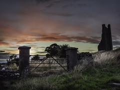 Trim Co Meath (jim2302) Tags: trim meath ireland panasonic gx9 leica 1260 f28 sun sunset sky skyscape gate grass field paysage nature light clouds river boyne trees