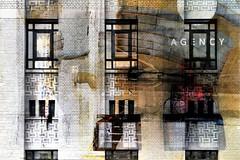 AG |EN|CY (roberke) Tags: digitalart artistic creative creation creatief photomontage photoshop layers lagen textures textuur surreal fantasy windows ramen vensters facade wall