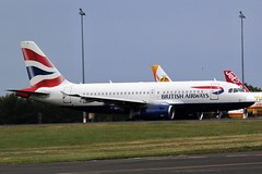 BRITISH AIRWAYS AIRBUS NEWCASTLE AIRPORT (toowoomba surfer) Tags: jet aeroplane airline airliner aviation aircraft ncl egnt