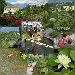 """Collage """"Die Gärten von Schloss Trauttmansdorf"""""""
