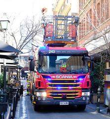 2ASF Leigh Street, Adelaide (adelaidefire) Tags: samfs sa mfs south australian metropolitan fire service adelaide australia rosenbauer metz capa combined aerial pumping appliance