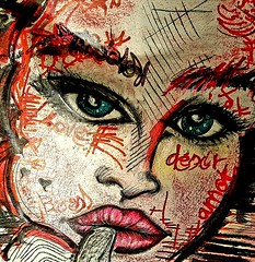 Luna (franck.sastre) Tags: face eyes lips nose art painting