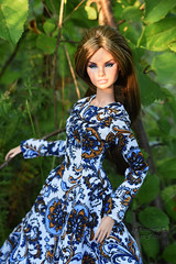 Erin Full Speed (Annabeth R.) Tags: doll integrity toys fashion royalty fr nuface nu face erin salston full speed supermodel convention collection summer forest handmade dress portrait