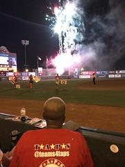 2018_TTG_July28_23 (TAPSOrg) Tags: taps tragedyassistanceprogramforsurvivors tapstogethers richmond virginia milb baseball richmondflyingsquirrels outdoor vertical redshirt baseballfield nighttime fireworks