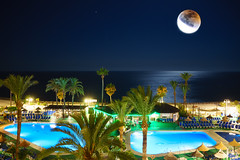 """The stories we tell ("""" Kamil Malecki Photography """") Tags: moon moonlight eclipse spain nightscape waterscape benalmadena"""