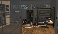 The bachelor. (mooddecor) Tags: man cave second life secondlife rustic manly gaming game virtual decor room decorating home garden llorisen fancy dust bunny lep husky dog wanderlust blogger fameshed