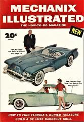 Tom McCahill and Buick Wildcat II (aldenjewell) Tags: buick wildcat ii concept car tom mccahill 1955 ford thunderbird mechanix illustrated magazine cover june 1954