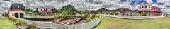 Queenstown station 360% (taszee63) Tags: tasmania panorama hdr 360 3xp wilderness railway rails ultrawide 18mm