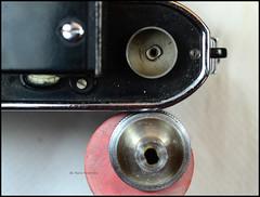 Certo Dollina II Repair Notes (10) (Hans Kerensky) Tags: certo dollina ii rangefinder folder repair removed winder transport knob