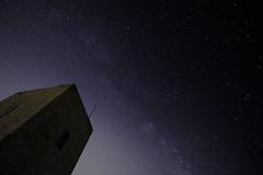 Ghajn Znuber Tower (albireo 2006) Tags: nightsky milkyway ghajnznubertower night stars malta mellieha