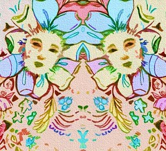 Flower Faces (Lindsaywhimsy) Tags: flower faces abstract illustration