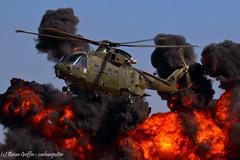 ZJ118 | Royal Navy | Agusta Westland EH-101 Merlin HC3 | EGDY | 07-07-2018 (carlowspotter) Tags: helicopter royal navy agusta westland merlin eh101 zj118 fire smoke explosion commando assault rnas yeovilton air station naval pyrotechnics demo aviation aircraft military rotor