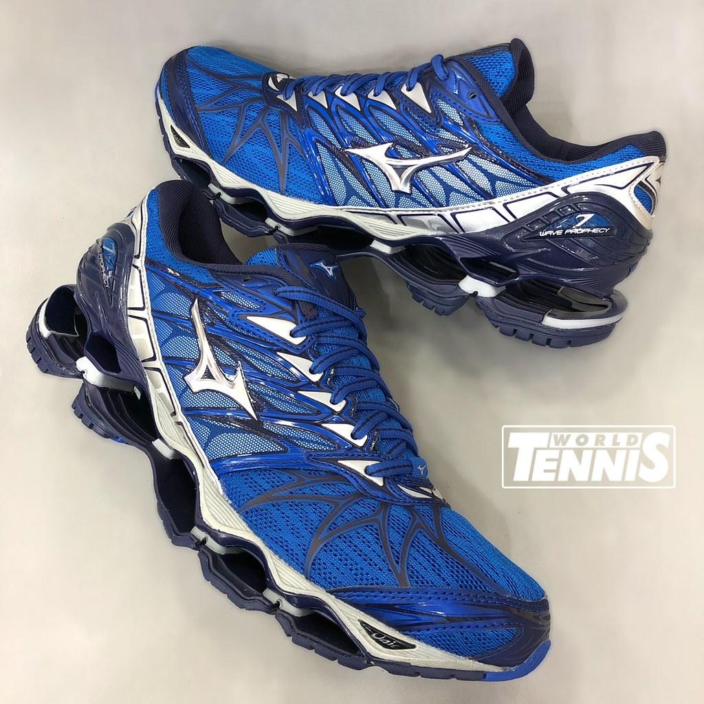 b72d0253d7a74 Mizuno Wave Prophecy 7 Masculino Azul/Prata (World Tennis) Tags: mizuno  prophecy